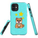 For Apple iPhone 12 mini Case, Tough Protective Back Cover, Shiba Inu Dog   Protective Cases   iCoverLover.com.au