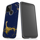 For Google Pixel 4a 5G Case, Tough Protective Back Cover, Scorpio Drawing   Protective Cases   iCoverLover.com.au