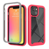 For iPhone 13 Pro Max, 13 Pro, 13 mini Case, Starry Sky Solid Colour Series, Protective Cover, Light Red | Plastic Cases | iCoverLover.com.au