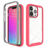For iPhone 13 Pro Case Starry Sky Solid Color Series Protective Armour Cover, Light Red | Plastic Cases | iCoverLover.com.au