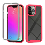 For iPhone 13 Pro Max Case Starry Sky Solid Color Series Protective Armour Cover, Light Red | Plastic Cases | iCoverLover.com.au