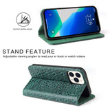 iPhone 13 Pro Max, 13, 13 Pro, 13 mini Case, Fierre Shann Crocodile Pattern Leather Wallet Cover, Green | iCoverLover Australia