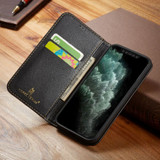 iPhone 13 Pro Max, 13, 13 Pro, 13 mini Case, Real Leather Wallet Cover, Black | iCoverLover Australia