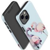 For Apple iPhone 13 Pro max, 13 Pro, 13, 13 mini Case, Protective Back Cover, Flamingo Couple   Shielding Cases   iCoverLover.com.au