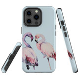 For Apple iPhone 13 Pro Max Case, Protective Back Cover, Flamingo Couple   Shielding Cases   iCoverLover.com.au