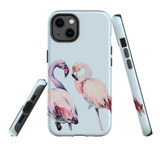 For Apple iPhone 13 Case, Protective Back Cover, Flamingo Couple   Shielding Cases   iCoverLover.com.au