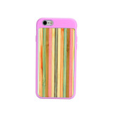 Pink Bamboo Rainbow iPhone 6 & 6S Case | Wooden iPhone Cases | Wooden iPhone 6 & 6S Covers | iCoverLover