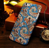 Blue Orange Paisley Fabric iPhone 6 Plus & 6S Plus Case | Designer iPhone Case 6 Plus & 6S Plus | iPhone Covers | iCoverLover