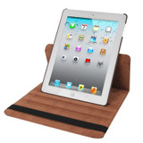 Brown Rotatable Leather Smart Function iPad 2 / iPad 3 / iPad 4 Case | Leather iPad 2, 3, 4 Cases | Smart iPad 2, 3, 4 Covers | iCoverLover