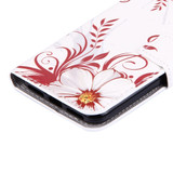 Flower Buds Leather Wallet iPhone SE (2020) / 8 / 7 Case | iCoverLover