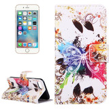 Crystal Butterfly Leather Wallet iPhone SE (2020) / 8 / 7 Case | iCoverLover