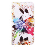 Crystal Butterfly Leather Wallet iPhone SE (2020) / 8 / 7 Case   iCoverLover