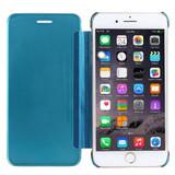 Blue Electroplating Mirror iPhone 8 PLUS & 7 PLUS Case | iPhone 8 PLUS & 7 PLUS Case Leather Cases | iPhone 8 PLUS & 7 PLUS Case Leather Covers | iCoverLover