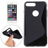 Black Grippy S-Shaped iPhone 8 PLUS & 7 PLUS Case   Protective iPhone 8 PLUS & 7 PLUS Cases   Protective iPhone 8 PLUS & 7 PLUS Covers   iCoverLover