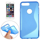 Blue Grippy S-Shaped iPhone 8 PLUS & 7 PLUS Case   Protective iPhone 8 PLUS & 7 PLUS Cases   Protective iPhone 8 PLUS & 7 PLUS Covers   iCoverLover