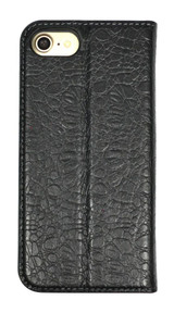 iPhone SE (2020) / 8 / 7 Case Black Fierre Shann Crocodile Genuine Cow Leather Cover | iCoverLover