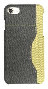 Black Woven Pattern Leather iPhone SE (2020) / 8 / 7 Case | iCoverLover