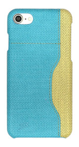 Blue Woven Pattern Leather iPhone SE (2020) / 8 / 7 Case | iCoverLover