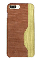 Brown Woven Pattern Leather iPhone 8 PLUS & 7 PLUS Case | Protective iPhone 8 PLUS & 7 PLUS Cases | Protective iPhone 8 PLUS & 7 PLUS Covers | iCoverLover