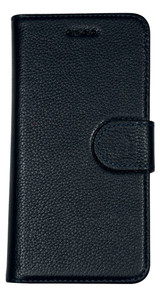 iPhone SE (2020) / 8 / 7 Case Navy Blue Cowhide Genuine Leather Wallet Case | iCoverLover