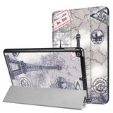 Eiffel Tower Postcard 3-fold Leather iPad 2017 9.7-inch Case | Leather iPad 2017 Cases | iPad 2017 Covers | iCoverLover