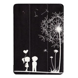 Cute Dandelion Couple 3-fold Leather iPad 2017 9.7-inch Case | Leather iPad 2017 Cases | iPad 2017 Covers | iCoverLover
