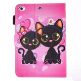 Colorful Cat Couple Leather Wallet iPad 2017 9.7-inch Case | Leather iPad 2017 Cases | iPad 2017 Covers | iCoverLover