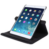 Black Lychee Rotatable Leather iPad 2017 9.7-inch Case | Leather iPad 2017 Cases | iPad 2017 Covers | iCoverLover