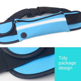 Blue Stylish Waterproof Outdoor 6-inch Waist Bag | Running Sports Accessories | Phone Accessories | iCoverLover