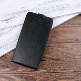 Black Horse Texture Vertical Flip Leather iPhone XS & X Case | Leather iPhone XS & X Covers | Leather iPhone XS & X Cases | iCoverLover