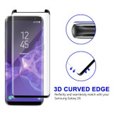 Black Samsung Galaxy S9 Full 3D Edge to Edge Tempered Glass Screen Protector | Protective Samsung Galaxy S9 Screen Protectors | Strong Samsung Galaxy S9 Glass Screen Protector | iCoverLover