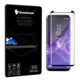 Black Samsung Galaxy S9+ PLUS Full 3D Edge to Edge Tempered Glass Screen Protector | Protective Samsung Galaxy S9 Screen Protectors | Strong Samsung Galaxy S9 Glass Screen Protector | iCoverLover