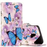 Flower Butterfly Pattern Leather Samsung Galaxy S9 Wallet Case | Leather Samsung Galaxy S9 Cases | Folio Samsung Galaxy S9 Covers | iCoverLover