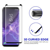 Black Samsung Galaxy S8+ PLUS Full 3D Edge to Edge Tempered Glass Screen Protector | Strong Samsung Galaxy S8+ PLUS Glass Screen Protector | iCoverLover