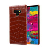 Samsung Galaxy Note 9 Case Brown Genuine Crocodile Leather Back Shell Cover | Samsung Galaxy Note 9 Genuine Leather Covers | Samsung Galaxy Note 9 Leather Cases | iCoverLover