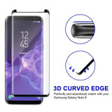 Samsung Galaxy Note 9 Black Screen Protector Full 3D Edge to Edge Tempered Glass | Protective Samsung Galaxy Note 9 Screen Protectors | Strong Samsung Galaxy Note 9 Glass Screen Protector | iCoverLover