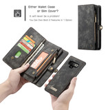Samsung Galaxy Note 9 Leather Wallet Case Black Detachable Flip Cover with Card Slots and Kickstand   Leather Samsung Galaxy Note 9 Cases   iCoverLover