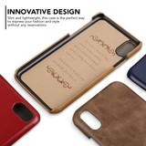 iPhone XS MAX Case Coffee Elegant Genuine Leather Back Shell Cover | iPhone XS MAX Genuine Leather Covers | iPhone XS MAX Leather Cases | iCoverLover
