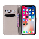 iPhone XS Max Case Panda Patterned Drawing Horizontal Leather Wallet Cover with Card Slots, Lanyard, & Kickstand | Leather Apple iPhone XS Max Covers | Leather Apple iPhone XS Max Cases | iCoverLover