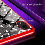 iPhone XR Case Red Diamond Textured Electroplating TPU Back Shell Cover   Protective Apple iPhone XR Covers   Protective Apple iPhone XR Cases   iCoverLover