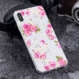 iPhone XS Max Peony Flower Pattern Highly Clear Soft TPU Protective Cover | Protective Apple iPhone XS Max Covers | Protective Apple iPhone XS Max Cases | iCoverLover