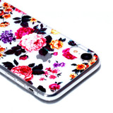 iPhone XR Case Flowers Varnish Painting Transparent Soft TPU Back Cover | Protective Apple iPhone XR Covers | Protective Apple iPhone XR Cases | iCoverLover