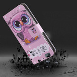 iPhone XR Case Colourful Owls Printed Wallet-style Leather Cover with 2 Card Slots, Cash Pocket, Built-in Kickstand, and Lanyard | Leather Apple iPhone XR Covers | Leather Apple iPhone XR Cases | iCoverLover