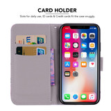iPhone XR Case Princess Crown Printed Wallet-style Leather Cover with 2 Card Slots, Cash Pocket, Built-in Kickstand, and Lanyard   Leather Apple iPhone XR Covers   Leather Apple iPhone XR Cases   iCoverLover