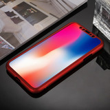 iPhone XS Max Case Red 360 Degree Full Coverage PC Cover with Tempered Glass Film, Detachable Frame, Shockproof| Protective Apple iPhone XS Max Cases | Protective Apple iPhone XS Max Covers | iCoverLover