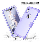 iPhone XR Case Light Purple Dropproof PC and Silicone Protective Back Cover with Enhanced Grip and Scratch-Resistance | Armor Apple iPhone XR Cases | Armor Apple iPhone XR Covers | iCoverLover