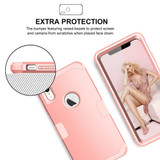 iPhone XR Case Rose Gold Dropproof PC and Silicone Protective Back Cover with Enhanced Grip and Scratch-Resistance   Armor Apple iPhone XR Cases   Armor Apple iPhone XR Covers   iCoverLover