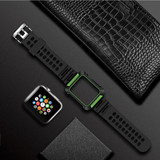 Armour Apple Watch 4 (44 mm) Watch Strap Green TPU & PC Protective Cover, Shockproof, Breathable | Armour Apple Watch Bands | iCoverLover