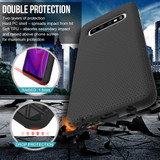 Samsung Galaxy S10 Case Black Ultra Thin Shockproof PC+TPU Armour Back Cover   Armor Samsung Galaxy S10 Covers   Armor Samsung Galaxy S10 Cases   iCoverLover