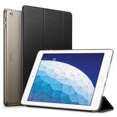 iPad Air 3 (2019) 10.5-inch Case Black Ultra Slim Fit PU Leather Folio Cover with Three-fold Stand, Sleep/Wake Function